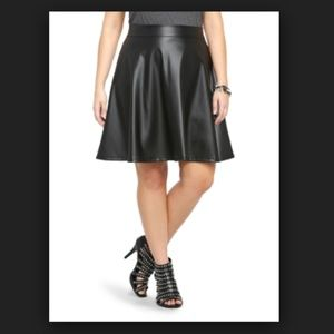 Torrid Womens Faux Leather A Line Flare Skirt J60